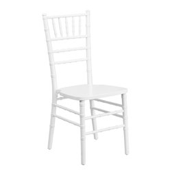 Flash Furniture - Flash Furniture Flash Elegance White Wood Chiavari Chair - If you've been to a wedding, chances are you've sat in a Chivalry chair. Chivalry Chairs have become a classic in the event industry and are also highly popular in high profile entertainment events. This chair is used in all types of elegant events due to its lightweight, stacking capabilities and elegant design. Keep your guests comfortable with optional cushions and keep your chairs beautiful with optional chair covers.