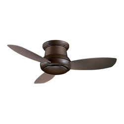 Minka-Aire - Minka-Aire Concept II 1-Light Oil Rubbed Bronze Hugger Ceiling Fan - F518-ORB - This 1-Light Hugger Ceiling Fan is part of the Concept Ii Collection and has an Oil Rubbed Bronze Finish.