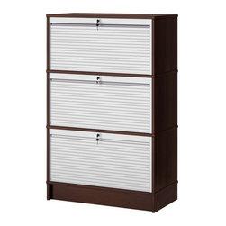 IKEA of Sweden - EFFEKTIV Storage combination - Storage combination, black-brown, aluminum
