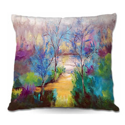 DiaNoche Designs - Pillow Woven Poplin - And God Saw That It Was Good - Toss this decorative pillow on any bed, sofa or chair, and add personality to your chic and stylish decor. Lay your head against your new art and relax! Made of woven Poly-Poplin.  Includes a cushy supportive pillow insert, zipped inside. Dye Sublimation printing adheres the ink to the material for long life and durability. Double Sided Print, Machine Washable, Product may vary slightly from image.