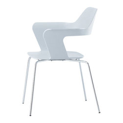 Radius Design - MU Stacking Chair, White - Smooth lines, aesthetics and robustness.