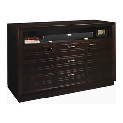 "Concord XL TV Lift Cabinet - The Concord XL TV Lift Cabinet can accomodate screens up to 70"" and features a modern design with three drawers and two doors for storage. TV not included."