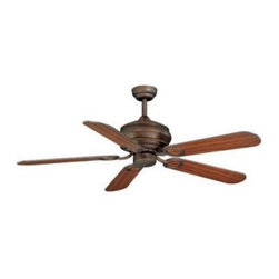 AireRyder FN52303WP Zephyr 52 in. Indoor Ceiling Fan - Weathered Patina - The reversible design of the fan blades on the AireRyder FN52303-wattP Zephyr 52 in. Indoor Ceiling Fan - Weathered Patina give you the flexibility to quickly and easily change your room's look. The blades are finished in rich walnut on one side to complement the weathered patina base finish, and distressed pine on the other side to provide contrast. This beautiful ceiling fan is UL-listed for dry locations, and is ideal for a living room or bedroom.Additional Features:5 fan blades; 12-degree blade pitchMotor: 153 x 17 mmUL-listed for dry locationsAbout Vaxcel LightingFor over 20 years, Vaxcel International has been a premier supplier of residential lighting products. Based in Carol Steam, Ill., Vaxcel's product line is composed of more than 2,000 items, ranging from builder-ready fixtures and ceiling fans to designer chandeliers and lamps, in the latest styles and finishes. They're known in the industry for offering a full selection of products at competitive prices.