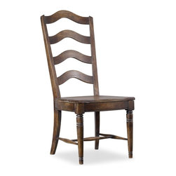 """Hooker Furniture - Hooker Furniture Willow Bend Ladderback Side Chair - Set of 2 - The Willow Bend collection is a perfect example of furniture inspired by the farm-to-table movement. While Willow Bend has farmhouse overtones, it also intentionally appeals to urban and suburban consumers. While it gives a nostalgic glance at simpler and more tranquil times, it offers an eclectic blend of modern function, technology-ready furniture and is paired with contemporary accessories. Poplar and Rubberwood Solids. Dimensions: 19.25""""W x 26.75""""D x 45.5""""H."""