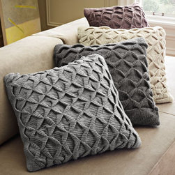 Sculpted Origami Pillow Cover - This origami pillow would make a great accent!