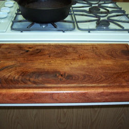 Cutting Boards - A simple cutting board made from solid Texas Mesquite with a drip edge.