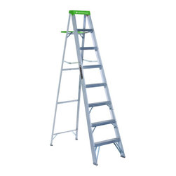 Louisville - Louisville 8 ft. Aluminum Step Ladder - 225 lbs. Multicolor - AS4008 - Shop for Ladders from Hayneedle.com! Reach for the cabinet! The Louisville 8 ft. Aluminum Step Ladder is always around the house to help you get up to task inside and out. This super-lightweight aluminum ladder is ready for any task folding flat when not in use and supporting up to 225 lbs. There's a built-in molded pail shelf a set of grippy rubber feet and no-slip 3-inch steps. Bottom width: 23.25 inches; Spread: 51.25 inches. About Louisville Ladder Since 1946 Louisville Ladder has been innovating in the field of climbing products and building a rock-solid reputation. As the first company to create aluminum step and extension ladders and the first to create a fiberglass ladder they're well aware of the ground they stand on. Look to Louisville for rock-solid basic products and incredible new inventions designed to let both the homeowner and professional worker reach new heights.