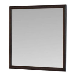"""Coaster - Mirror (Brown Maple) By Coaster - This square mirror makes a perfect pair with the Webster collection's matching dressing chest. The slim-framed mirror is framed in lustrous Maple Brown finished maple veneers. Beveled glass helps brighten up your room and give the illusion of increased space. Features: Brown Maple finish on Maple veneers Made from Wood Veneers & Solids Square Mirror Specifications: Overall product dimensions: 0.75""""D x 39.5""""H x 38.5""""W"""