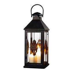 Pier Surplus - Metal European-style Hanging Candle Lantern, 25 Inch #Cl229315 - This hanging metal candle lantern features high-quality materials designed for indoor or outdoor use. Add an exotic touch of mystery and worldliness to any evening's entertainment. Whether it is hanging from a branch or set as a centerpiece, this Moroccan candle lantern is a sophisticated way to provide soft light at your wedding reception. Its beautiful decorative design encases candles to burn safely. Be sure to see our 19 in. matching lantern.