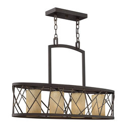 Fredrick Ramond - Fredrick Ramond FR41614ORB Nest Transitional Chandelier - Nest finds its inspiration from patterns found in nature. This contemporary chandelier collection conveys an organic modern elegance in an Oil Rubbed Bronze finish complemented by distressed amber etched glass.