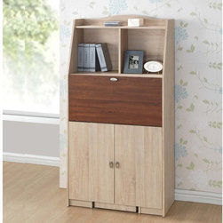 Baxton Studio - Baxton Studio Rutherford Sonoma Oak Finishing Modern Convertible Writing Desk - Space at a premium? You don't have to dismiss style. Our Rutherford Convertible Study Desk provides plenty of storage and utility in a convertible package.