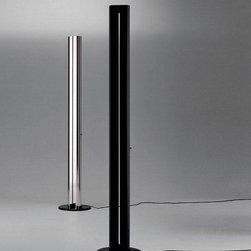 Artemide - Megaron Floor Lamp by Artemide - Megaron Floor Lamp by Artemide. Steel base coated with thermoplastic resin; body in polished anodized aluminium. Megaron Floor Lamp by Artemide are designed by Gianfranco Frattini.