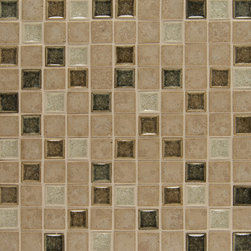 TileCrest - Kismet - This beautiful 1X1 Bliss Mosaic Blend on 12x12 Inch sheet can be used for walls, backsplashes, countertops and shower applications.
