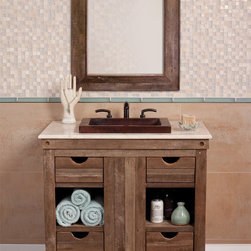 Chardonnay Vanity by Native Trails - Made from wine-stained oaking staves used to flavor wine during the fermenting process. The finish is a result of the oak staves soaking in white wine for years, infusing tannins and aroma while absorbing the color of the grapes.