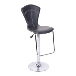 "Wildon Home - Petal Gas Lift Swivel Barstool (Set of 2) - Features: -Set of 2 swivel barstools. -Metal construction. -Polyurethane seat. -Contemporary style. -Chrome base. -Adjustable from counter height to bar height. -Assembly required. -Dimensions: 23"" Height x 17"" Width x 21"" Depth."