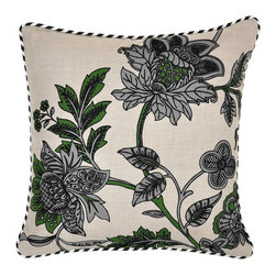 Villa Home Collection - Floral Multi Pillow - Beautifully handmade and hand woven, each pillow is made with a quality fill of 95% feather and 5% down. The Villa Home collection offers a variety of colors, textures and accents that will add a feeling of luxury to your home. The Floral pillow is 1005 Linen.
