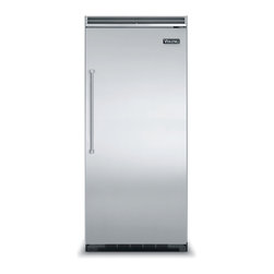"""Viking 36"""" Built-in All-freezer, Stainless Steel Right Hinge 