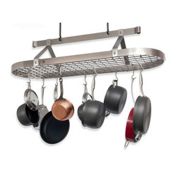 Enclume Premier Collection 4-Foot Stainless Steel Oval Pot Rack With Grid