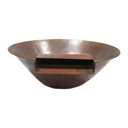 "31"" Tuscano Manual 1-Bowl Copper Fire & Water Bowl System - -Fire & Water Bowl Simultaneous System"
