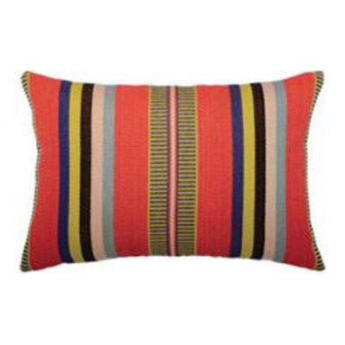 """New Elaine Smith Pillows - Machu Picchu Poncho Stripe Lumbar - 12"""" x 20"""" Elaine Smith Pillows"""
