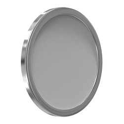 Remcraft Lighting - Directional Mount Mirror W / Adhesive Tabs - Directional mount mirror features a Lexan body and is sealed with silicone for use in wet locations. Mounting configurations include keyhole slots, suction cups and adhesive tabs.  Finish available in standard: chrome; premium: brass, bronze and satin nickel; and custom: polished nickel, pewter, brushed copper, verde and gold. Made in the USA. 10 inch diameter x 1.5 inch depth.