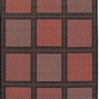 Frontgate - Summit All-weather Rugs in Brown/Brown - 100% fiber-enhanced polypropylene rug. Resistant to fading, mildew, and mold. Rugged enough to withstand months of blistering sun and torrential downpours. Quick-dry outdoor rugs will be fine after an unexpected summer shower. These Summit All-weather Rugs add inviting warmth to sunrooms, stone entryways and decks. Created with rich, unique colors, these outdoor area rugs complement the simple yet classic styling of patio furniture.. . . . Other rug designs vary by size.