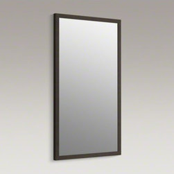 KOHLER - KOHLER Jacquard(TM) framed mirror - This wood-framed mirror reflects the transitional style of Jacquard vanities in the KOHLER(R) Tailored vanity collection. Choose from an array of wood finishes to match your Jacquard vanity.