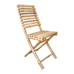 ZEW Inc. - Bamboo Collapsible Chair - Bamboo Collapsible Chair