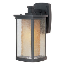Maxim Lighting - Maxim Lighting 85653CdwSBZ Bungalow Ee1-Light Wall Lantern - Maxim Lighting 85653CDWSBZ Bungalow EE1-Light Wall Lantern