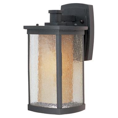 Maxim Lighting - Maxim Lighting 85653CdwSBZ Bungalow Ee1-Light Wall Lantern - Maxim Lighting 85653CDWSBZ Bungalow EE1-Light Wall Lantern