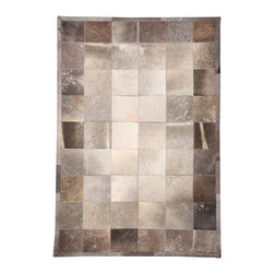 "Natural Area Rugs - NaturalAreaRugs Polo Cowhide Patchwork Rug, 100% Natural Cowhide, 8 Ft. X  10 Ft - Free & Same Day Shipping within Continental USA. International Shipping Available (Contact us for a quote). Made from 100% Natural Cowhide. Hand-stitched hairhide by Artisan Rug Maker. Imported. Each cowhide patchwork block is 8"" x 8"". Our unique cowhide rug adds texture to any room. The neutral, natural patchwork pattern complements all types of decorating and color schemes."