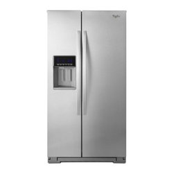 Whirlpool - WRS576FIDBM 26 cu. ft. Energy Star Standard Depth Side-by-Side Refrigerator with - Maximize frozen food storage with the Whirlpool side-by-side refrigerator39s In-Door-Ice Plus system It creates 30 more usable space in the freezer and offers a bin that tilts out or can be removed and placed on the counter to make filling glasses pi...