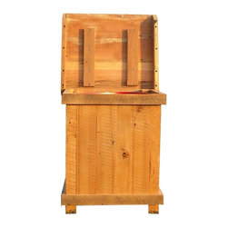 The Rusted Nail LLC - Trash Bin - Whether you're hiding your dirty laundry or odiferous trash, this sturdy bin, made from salvaged wood, covers it up beautifully. Fits a standard trash can or laundry bin and has a bottom, so your clothes won't fall out. Custom sizes are available.