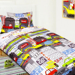 In the City Quilt Cover Set, Double