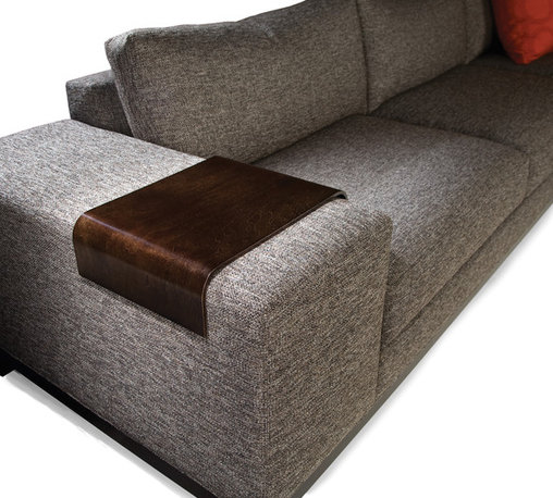Wood Arm Tray for Max & Maxwood Sectionals from Thayer Coggin - Thayer Coggin Inc.