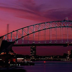 Magic Murals - Sydney, Australia at Sunset Wallpaper Wall Mural - Self-Adhesive - Multiple Size - Sydney, Australia at Sunset Wall Mural