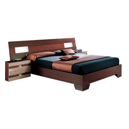 ESF Furniture - 112 Benicarlo Platform Bed - ESF Furniture, King - This elegant Bed from 112 Benicarlo Furniture, Spain has a modern European style. The price is for Queen Size bed; The king size is also available.