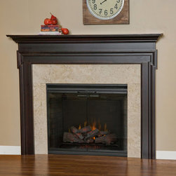 Sequoia Wood Fireplace Mantel - The Sequoia Wood Fireplace Mantel is available in a large array of woods, stains and paints. With the gorgeous detailing, it's easy to see why this mantel would complement any home's decor.