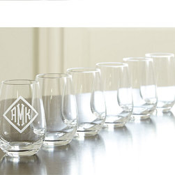 Ballard Designs - Set of 6 Jameson Stemless Wine Glasses - From renowned German glassmaker, Schott Zwiesel, this lead-free stemware is preferred by top restaurants and hotels the world over for its beauty and extreme durability. Stemless Wine Glass is designed to coordinate beautifully with varietal stemware.Jameson Beverage Glass features:Patented Tritan titanium technology. Break, chip and scratch-resistant. Dishwasher safe.