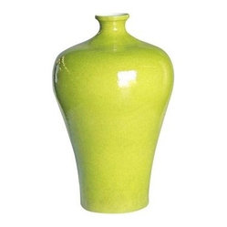 Belle & June - Lime Prunus Vase - If you're going to buy a beautiful vase, make it one that stands out. This vivid vase adds drama to your room and looks even more amazing overflowing with a colorful bouquet.