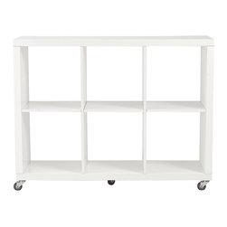 Eurostyle - Eurostyle Sabra 2X3 Storage Shelving Unit in White - The comforting symmetry and excellent construction is only half the story. All of these shelving units include industrial casters so that they can be easily moved. As in room dividers. Work station companions. And more. If you prefer a more permanent installation, the casters can be removed and included feet installed. Voila. What's included: Shelving Unit (1).