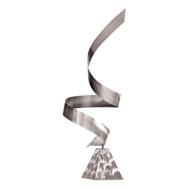 ZUO - Bjorn Sculpture - Feels as if it's swirling upward in a gentle wind. The Bjorn Sculpture holds an air of graceful freedom. Gleaming metal spirals up from a triangular base.