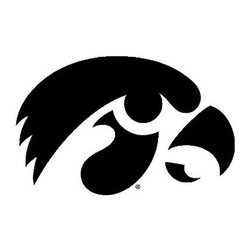 Trademarx Wall Decor - NCAA Iowa Hawkeyes College Logo Wallmarx Accent Decal - Features: