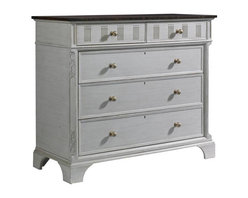 Stanley Furniture - Charleston Regency-Franklin Media Chest - The Franklin Media Chest's fold down drawer front is perfect for proper media storage. The five drawers and one flip down drawer front provide plenty of space, while the electrical outlet recessed in the back offers easy connectivity.