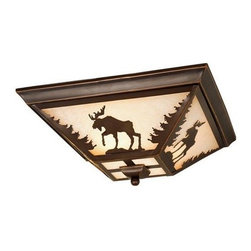 Vaxcel Lighting - Vaxcel Lighting CC55614 Yellowstone 3 Light Flush Mount Ceiling Fixture - Features: