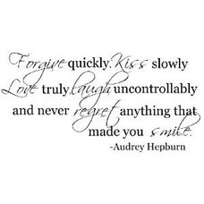Amazon.com - Forgive quickly Audrey Hepburn quote wall decal saying vinyl