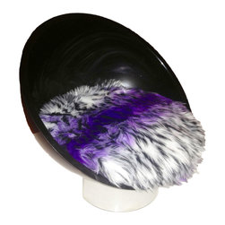 Ultra Modern Pet - Mini Scoop Luxury Pet Bed, Black-Purple, X-Small - This striking custom-made, ultra-modern pet bed is sure to turn heads! Acrylic dome-shaped bed frame with super-soft Mongolian faux fur cushion. Mini design suitable for small cats and toy breed dogs. Cushion secured to bed frame. Fur may be washed with damp cloth.