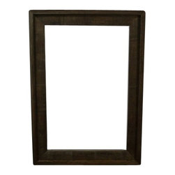 12X18 Frame From Eco Friendly Reclaimed Wood - The natural light gray and brown weathering of this wood will frame that fine art print in eco friendly style!