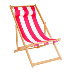 Gallant & Jones - Malibu Chair - Deck chair with Fabric Sling and Pillow