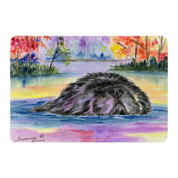 Caroline's Treasures - Newfoundland Kitchen or Bath Mat 24 x 36 - Kitchen or Bath Comfort Floor Mat This mat is 24 inch by 36 inch. Comfort Mat / Carpet / Rug that is Made and Printed in the USA. A foam cushion is attached to the bottom of the mat for comfort when standing. The mat has been permanently dyed for moderate traffic. Durable and fade resistant. The back of the mat is rubber backed to keep the mat from slipping on a smooth floor. Use pressure and water from garden hose or power washer to clean the mat. Vacuuming only with the hard wood floor setting, as to not pull up the knap of the felt. Avoid soap or cleaner that produces suds when cleaning. It will be difficult to get the suds out of the mat.